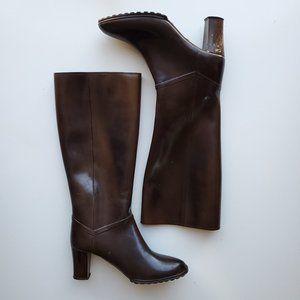Andrew Gellar Heeled Rainboots Faux Leather  | 9